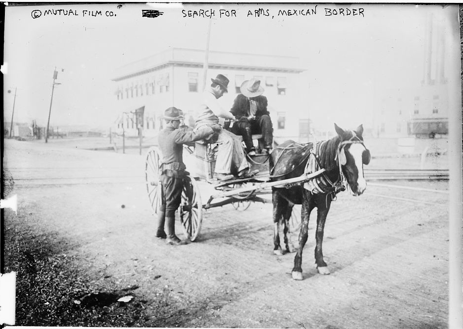 Search for Arms, Mexican Border Bain News Service ca. 1910-1915 Library of Congress